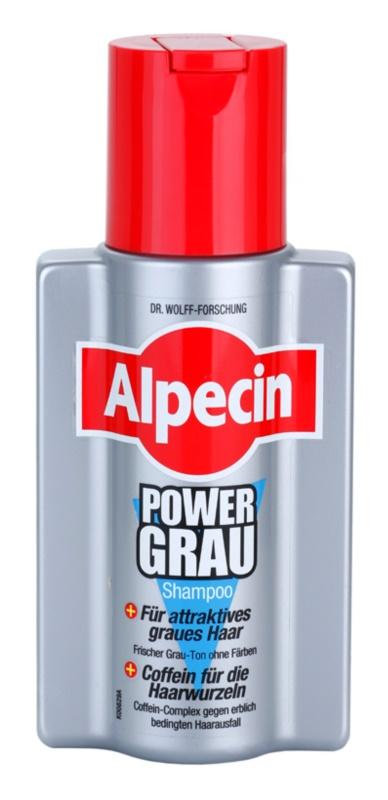Alpecin Power Grau šampón pre zvýraznenie šedých odtieňov vlasov