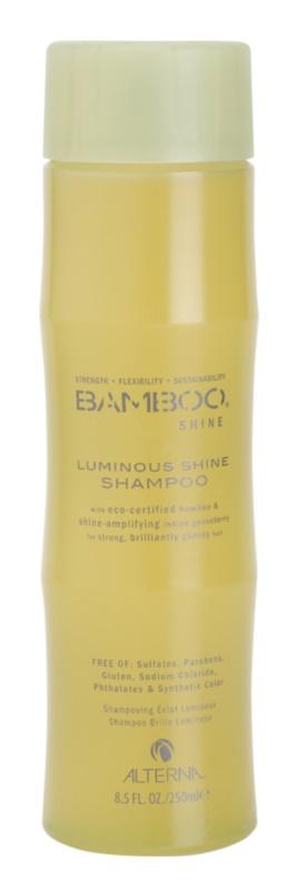 Alterna Bamboo Shine champú para dar un brillo deslumbrante