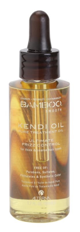 Alterna Bamboo Smooth huile de soin traitante 100% pure anti-frisottis