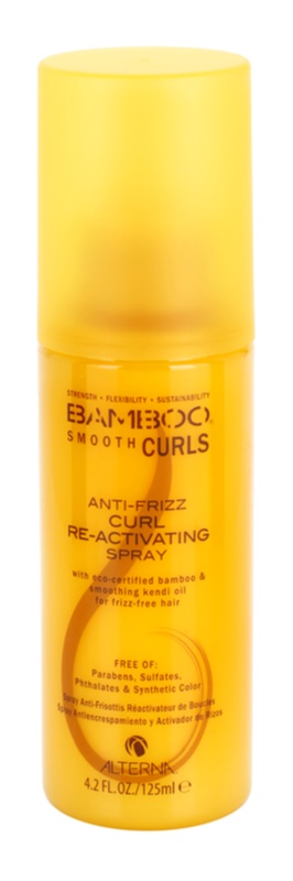 Alterna Bamboo Smooth spray sin aclarado para cabello ondulado