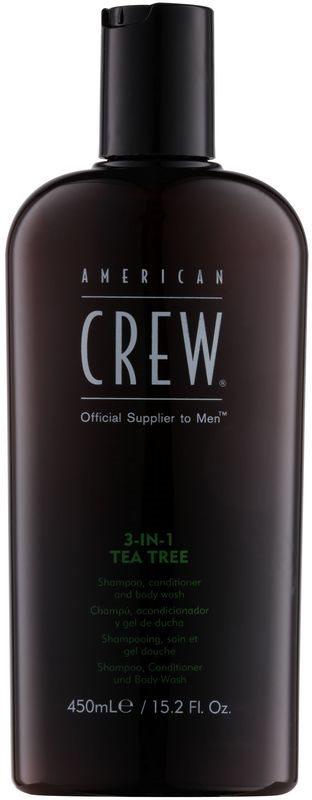 American Crew Tea Tree šampon, regenerator i gel za tuširanje 3 u 1 za muškarce