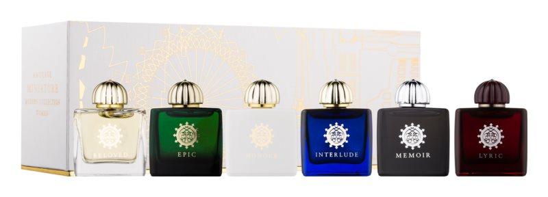 Amouage Miniatures Bottles Collection Women Gift Set VI. Lyric, Epic, Memoir, Jubilation 25, Interlude, Beloved