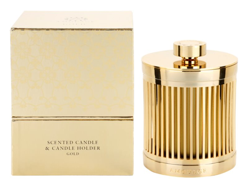 Amouage Gold vela perfumado 195 g + suporte