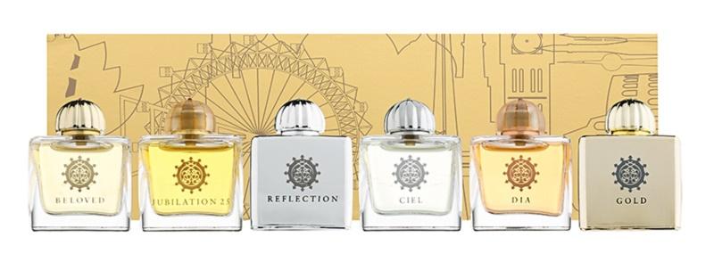 Amouage Miniatures Bottles Collection Women Gift Set II. Gold, Dia, Ciel, Reflection, Jubilation 25, Beloved