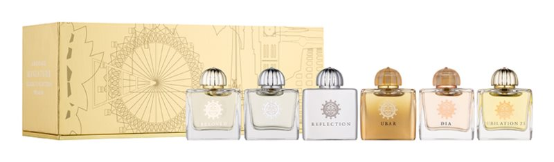 Amouage Miniatures Bottles Collection Women Gift Set I. Ubar, Dia, Ciel, Reflection, Jubilation, Beloved