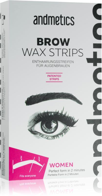 andmetics Wax Strips traka za depilaciju s voskom za obrve