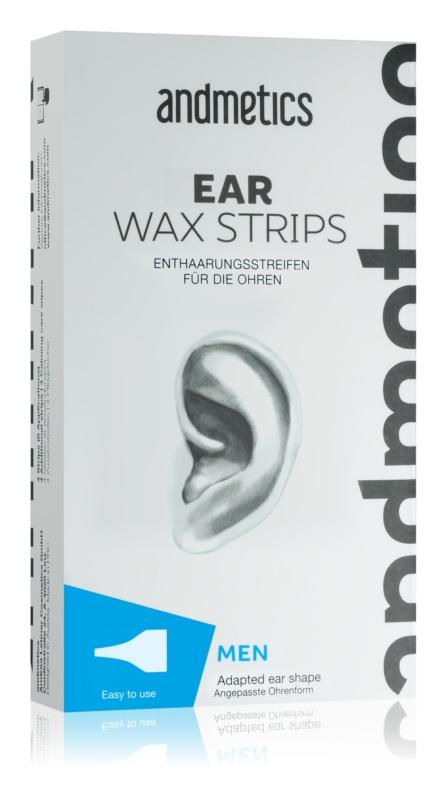 andmetics Wax Strips Kaltwachsstreifen für die Ohren