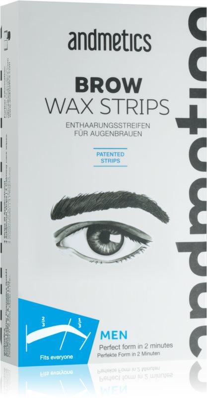 andmetics Wax Strips plastry z woskiem do depilacji brwi dla mężczyzn