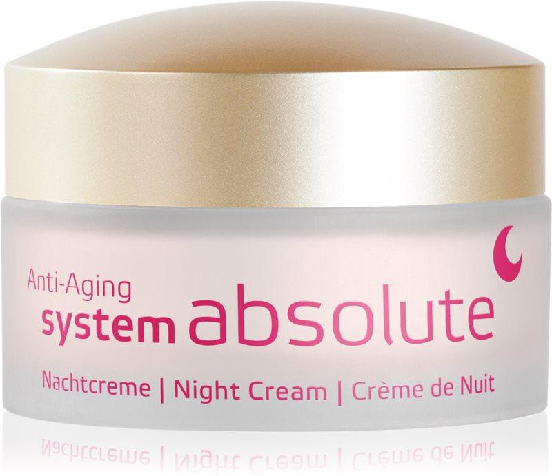 ANNEMARIE BÖRLIND System Absolute - System Anti - Aging regeneráló éjszakai krém az öregedés jelei ellen