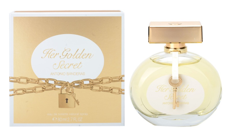 Antonio Banderas Her Golden Secret Eau de Toilette para mulheres 80 ml