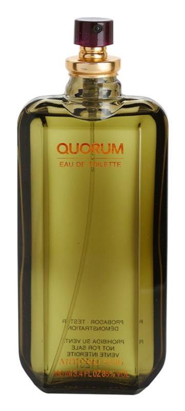 Antonio Puig Quorum toaletní voda tester pro muže 100 ml