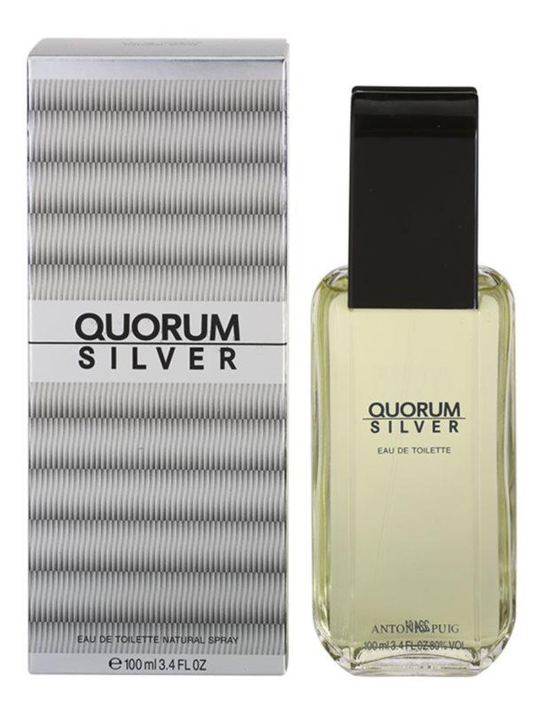 Antonio Puig Quorum Silver eau de toilette pentru barbati 100 ml