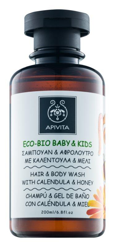 Apivita Eco-Bio Baby & Kids gel nettoyant et shampoing pour bébé à usage quotidien