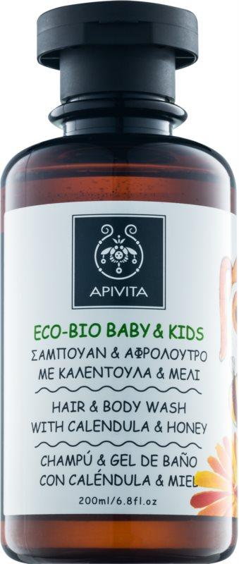 Apivita Eco-Bio Baby & Kids Reinigungsgel und Shampoo für Kinder zur täglichen Anwendung