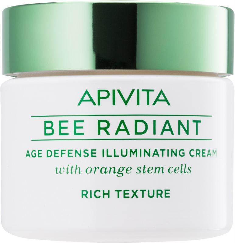 Apivita Bee Radiant aufhellende Crem gegen die Zeichen des Alterns