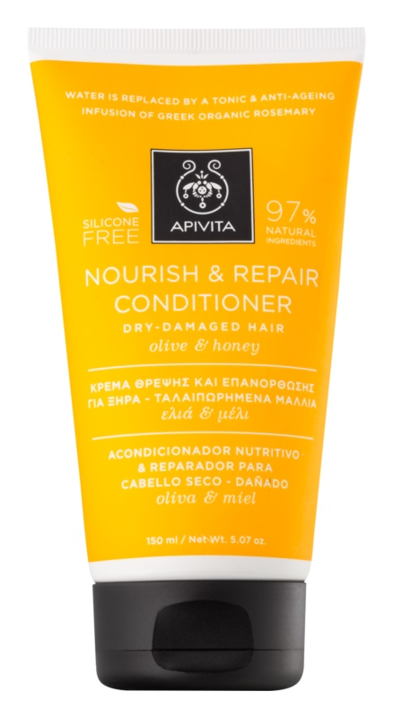 Apivita Holistic Hair Care Olive & Honey après-shampoing nourrissant pour cheveux secs et sensibilisés