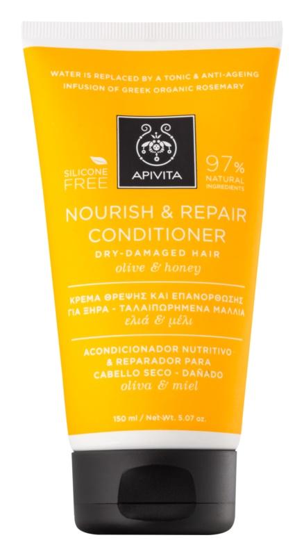 Apivita Holistic Hair Care Olive & Honey Voedende Conditioner  voor Droog en Overgevoelig Haar