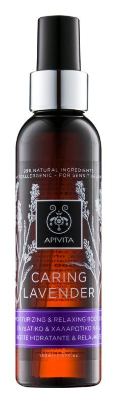 Apivita Caring Lavender huile hydratante et relaxante corps