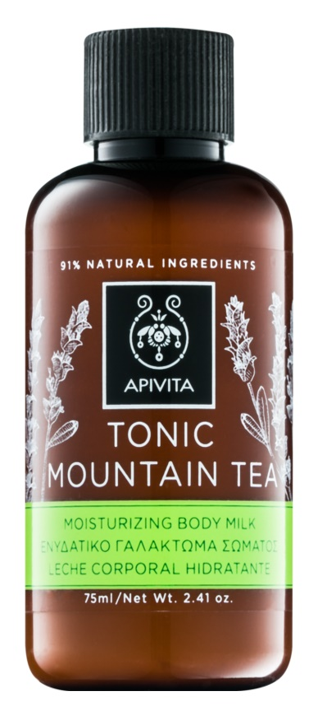 Apivita Body Tonic Bergamot & Green Tea tönende Milch für den Körper