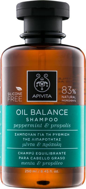 Apivita Holistic Hair Care Pepermint & Propolis sampon hajolajjal