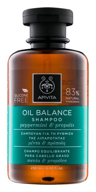 Apivita Holistic Hair Care Pepermint & Propolis Shampoo voor Vet Haar