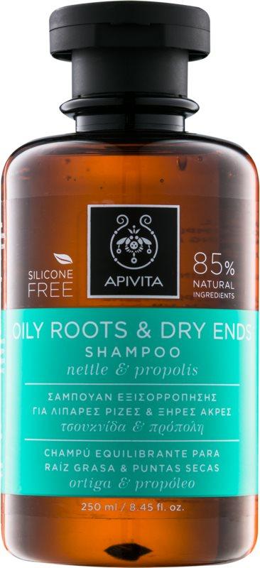 Apivita Holistic Hair Care Nettle & Propolis champô para couro cabeludo oleoso e pontas secas