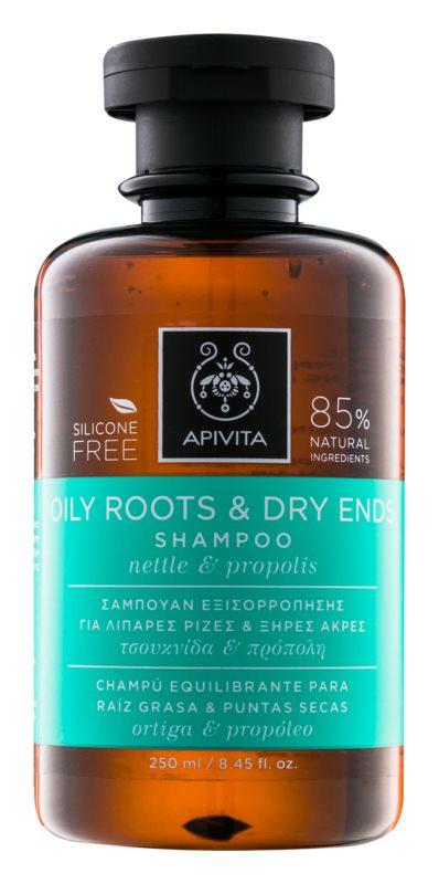 Apivita Holistic Hair Care Nettle & Propolis sampon zsíros fejbőrre és száraz hajvégekre