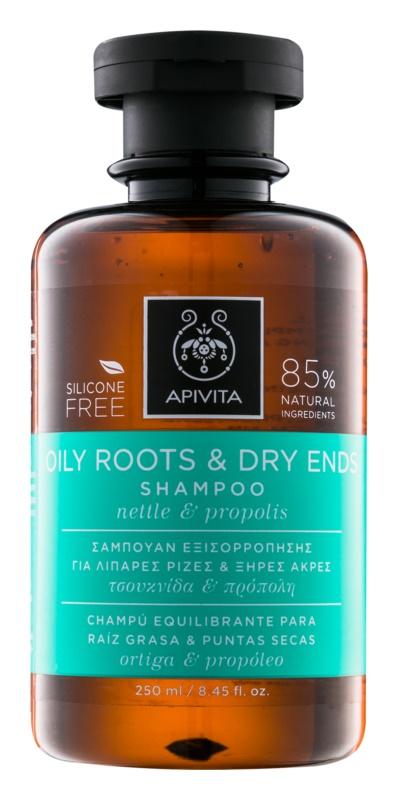Apivita Holistic Hair Care Nettle & Propolis szampon do przetluszczającej się skóry głowy i suchych końcówek