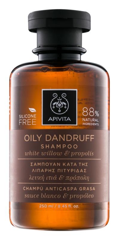 Apivita Holistic Hair Care White Willow & Propolis korpásodás elleni sampon zsíros hajra