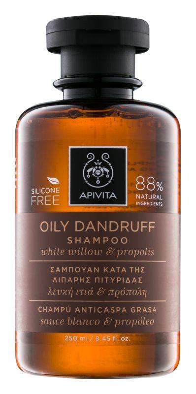 Apivita Holistic Hair Care White Willow & Propolis šampon proti prhljaju za mastne lase