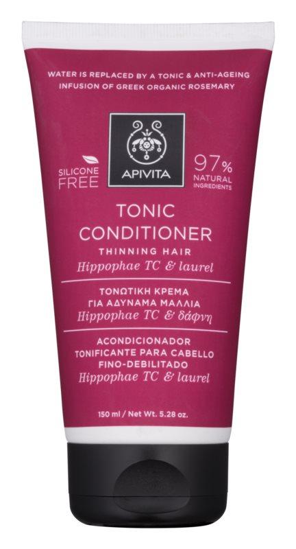 Apivita Holistic Hair Care Hippophae TC & Laurel тонізуючий кондиціонер для рідкого  волосся
