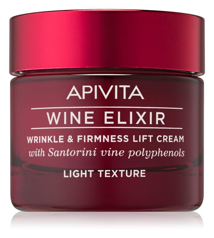 Apivita Wine Elixir Santorini Vine leichte Anti-Falten-Creme mit festigender Wirkung