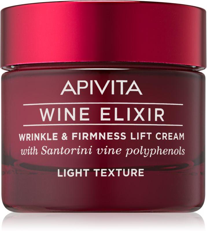 Apivita Wine Elixir Santorini Vine lichte antirimpel crème  met Verstevigende Werking