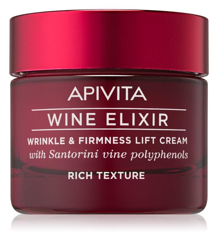Apivita Wine Elixir Santorini Vine Reichhaltige Anti-Falten-Creme mit festigender Wirkung