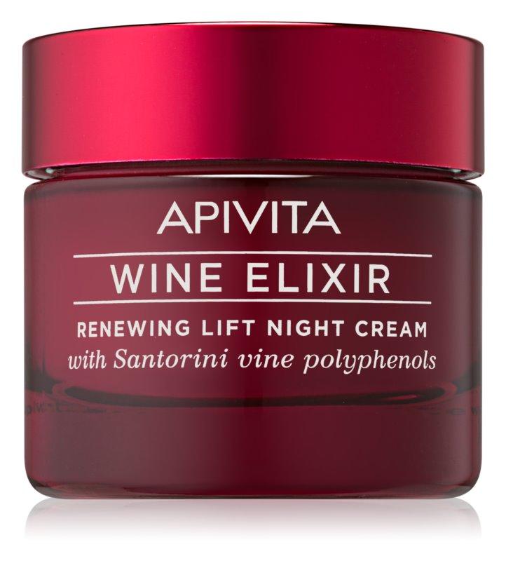 Apivita Wine Elixir Santorini Vine obnovujúci nočný krém s liftingovým efektom