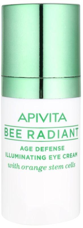 Apivita Bee Radiant creme de olhos iluminador e rejuvenescedor