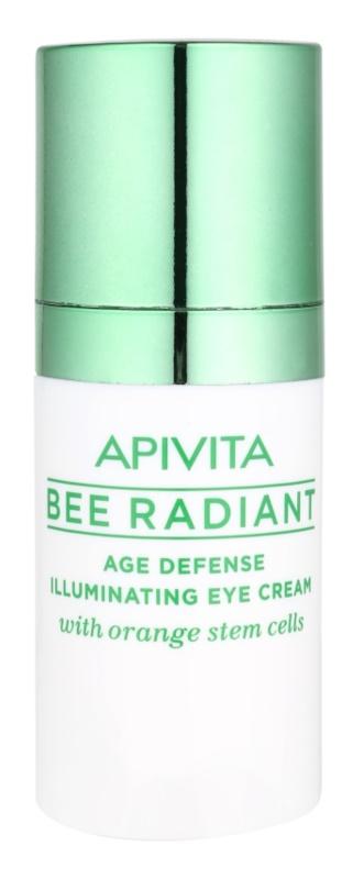 Apivita Bee Radiant verjüngende und aufhellende Augencreme