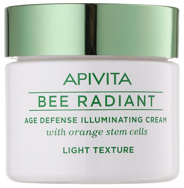 Apivita Bee Radiant gyengéd fiatalító krém az élénk bőrért