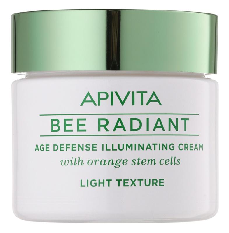 Apivita Bee Radiant lahka pomlajevalna krema za osvetlitev kože