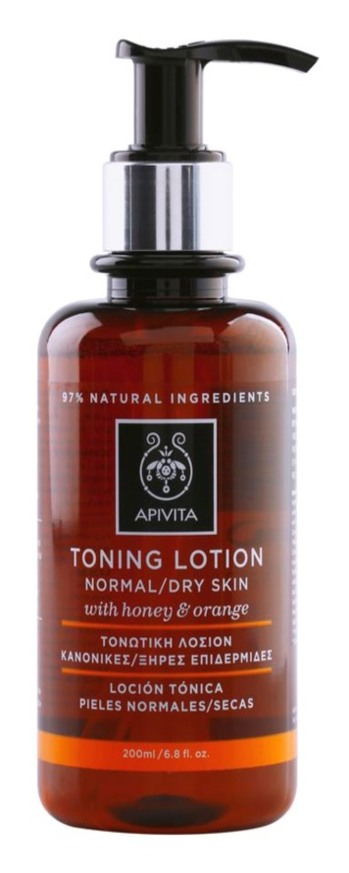 Apivita Cleansing Honey & Orange lotion tonique pour peaux normales et sèches