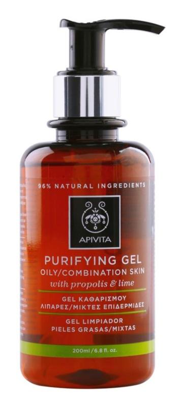 Apivita Cleansing Propolis & Lime čisticí gel pro mastnou a smíšenou pleť