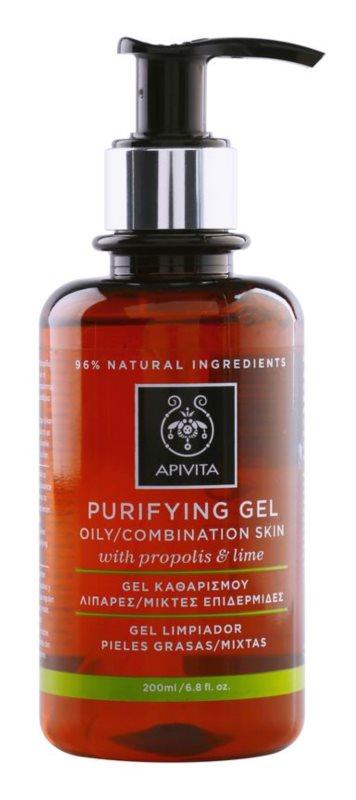Apivita Cleansing Propolis & Lime gel za čišćenje za mješovitu i masnu kožu lica