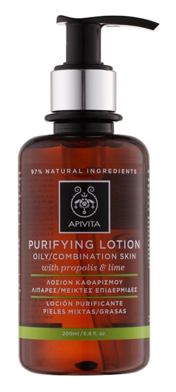 Apivita Cleansing Propolis & Lime lozione tonica detergente per pelli grasse e miste