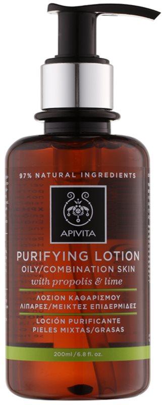 Apivita Cleansing Propolis & Lime tónico de limpeza para pele oleosa e mista