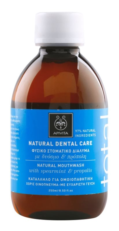 Apivita Natural Dental Care Total płyn do płukania jamy ustnej