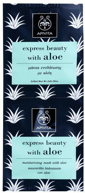 Apivita Express Beauty Aloe feuchtigkeitsspendende Gesichtsmaske