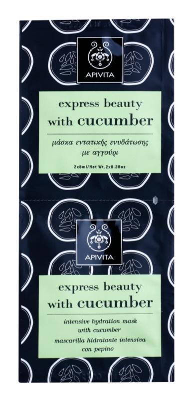 Apivita Express Beauty Cucumber Intenzív hidratáló arcpakolás