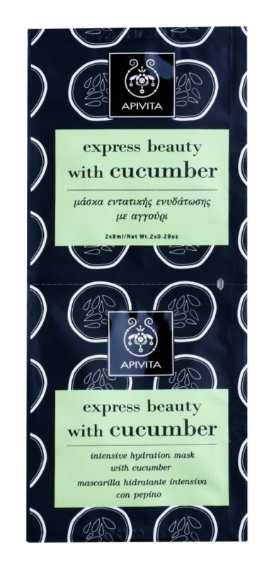 Apivita Express Beauty Cucumber masca faciala intensiv hidratanta