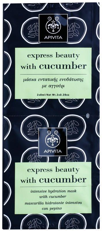 Apivita Express Beauty Cucumber maschera idratante intensa viso