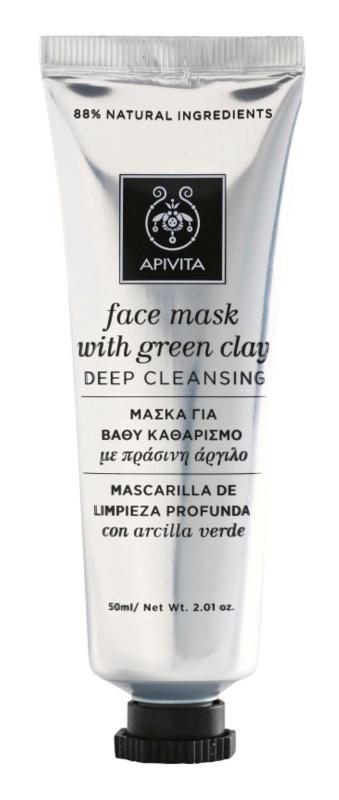 Apivita Express Beauty Green Clay máscara facial de limpeza profunda
